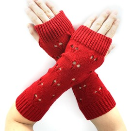 Ericdress Heart Knitting Wool Women's Long Gloves