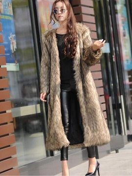 Ericdress Long Loose Feather Coat
