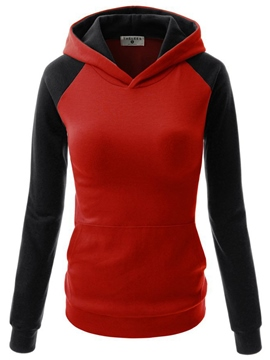 Ericdress Slim Patchwork Color Block Cool Hoodie