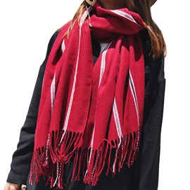 Ericdress New Style Cashmere-Like Thicken Striped Women's Scarf