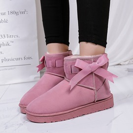 Ericdress Slip-On Plain Women's Snow Boots with Bowtie