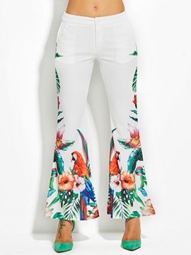 Floral Print Full Length Women's Bellbottoms