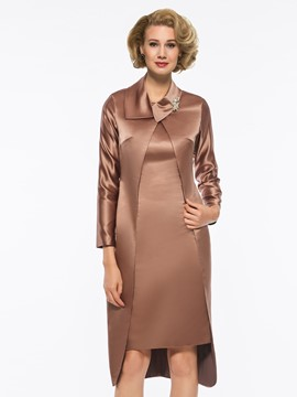 Ericdress Straps Knee-Length Mother of the Bride Dress with Jacket