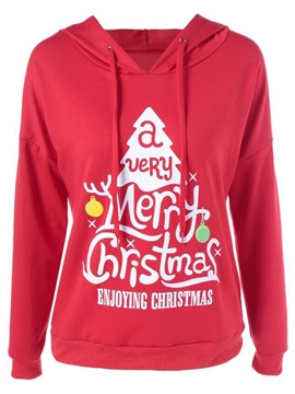 Ericdress Thin Christmas Letter Cool Hoodie