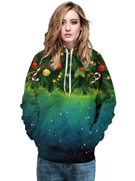 Ericdress Loose Christmas Tree Cool Hoodie