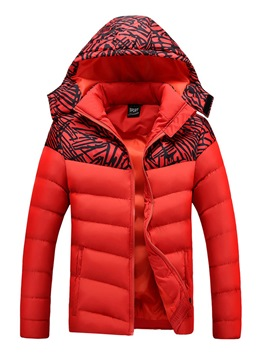 Ericdress Plain Print Hooded Down Slim Men's Winter Coat