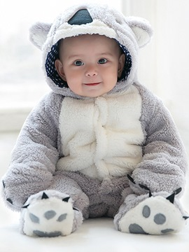 Ericdress Animal Model Hidden Button Warm Baby Boys & Girls Bodysuits