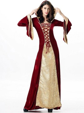 ericdress königin cosplay halloween kostüm hoodie party maxi kleid