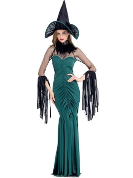 ericdress hexe cosplay halloween kostüm party maxi kleid