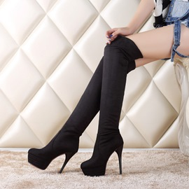 Ericdress Fashion Slip-On Platform Over-the-Knee Boots