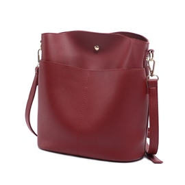 Ericdress Retro Solid Color Bucket Shape Crossbody Bag