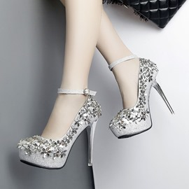 Ericdress Floral Rivet Platform Stiletto Heel Women's Shoes