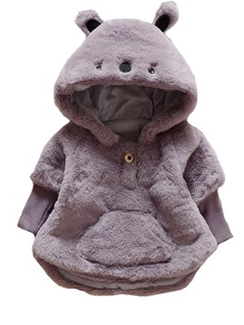 Ericdress Animal Model Hooded Pullover Baby Girl's Overcoat