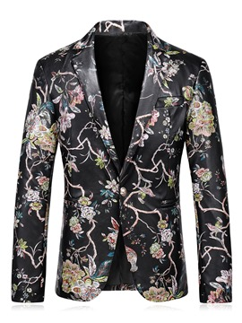 Ericdress Color Block Print Vogue Slim Men's Blazer