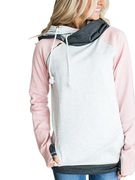 Ericdress Loose Patchwork Mid-Length Cool Hoddie