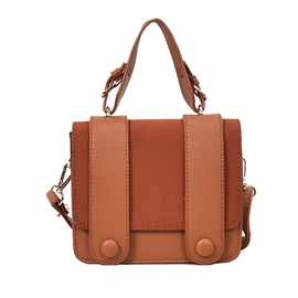 Ericdress Casual Belt-Decorated Solid Color Crossbody Bag