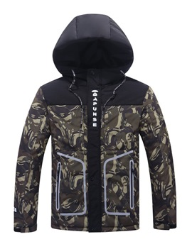 Ericdress Camouflage Hooded Thicken Slim Men's Winter Coat