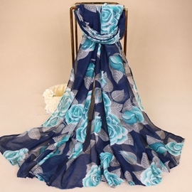 Ericdress Voile Floral Fashionable Scarf for Women