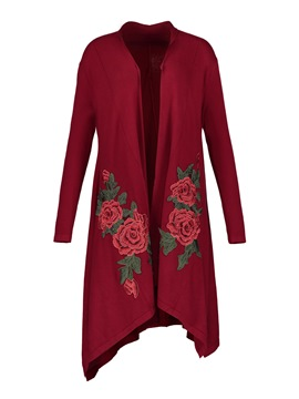 Ericdress Loose Floral Embroideried Cardigan Knitwear