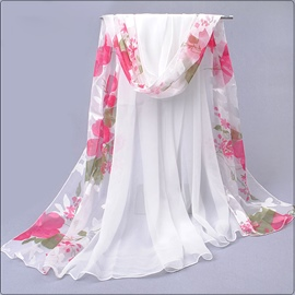 Ericdress Best Selling Chiffon Floral Scarf for Women