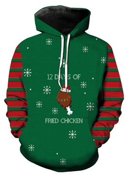 Ericdress Christmas Style Hooded Pullover Men's Hoodie