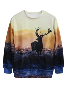 Ericdress Loose Print Animal Cool Hoodie