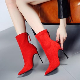 Ericdress Fashion Pointed Toe Stiletto Heel Sock Boots