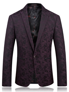 Ericdress Floral Print Notched Lapel Vogue Men's Jacket