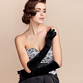 Ericdress High-End Pleuche Women's Gloves for Wedding