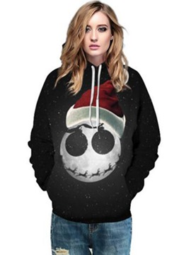 Ericdress Christmas Hat Loose Cool Hoodie
