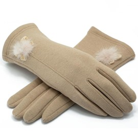 Ericdress Ladylike Pure Color Thicken Warm Women's Gloves