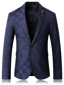 Ericdress Notched Lapel Single-Breasted Vogue Slim Men's Jacket