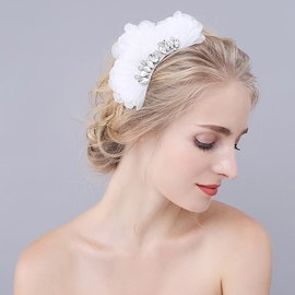 Ericdress Rhinestone White Hair Accessories for Wedding