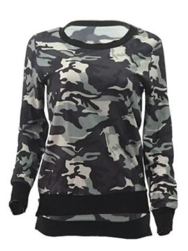Ericdress Loose Camouflage Cool Hoodie