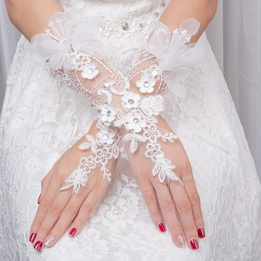 Ericdress Lace Fingerless Wedding Gloves