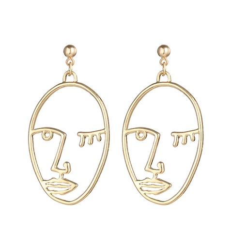 Ericdress Hollow Out Human Face Drop Earring for Women