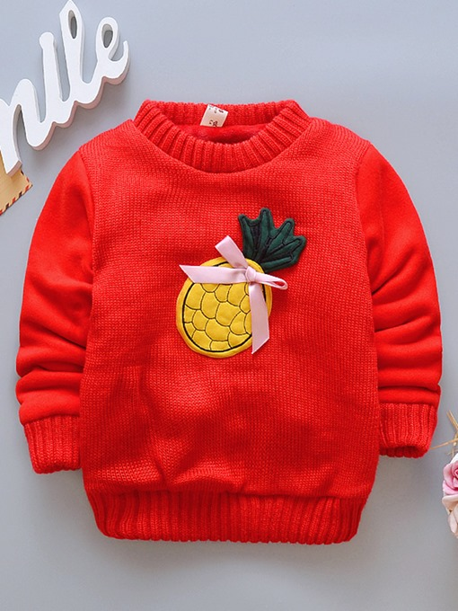 Ericdress Cartoon Print Round Neck Thick Baby Boys & Girls Sweater