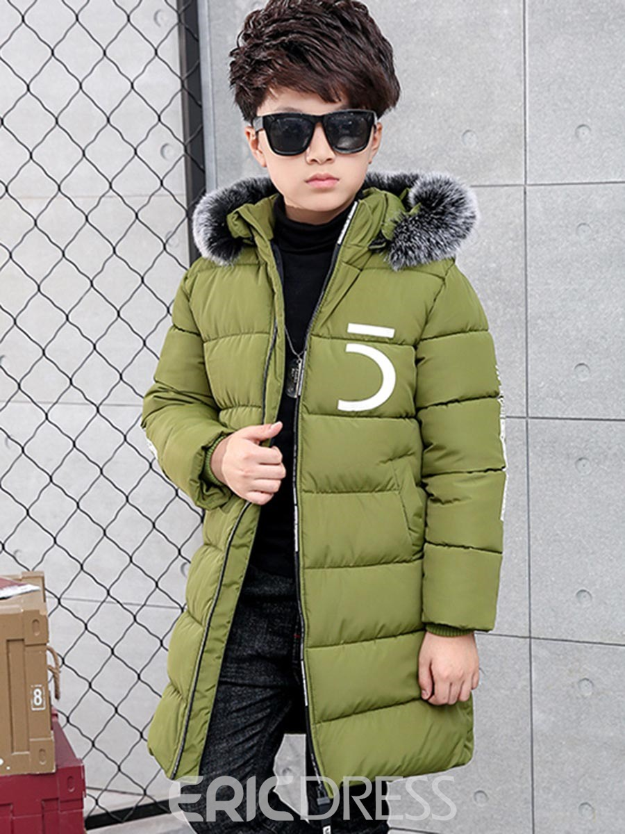 Ericdress Fashion Letter Print Zipper Thick Boys Down Jacket