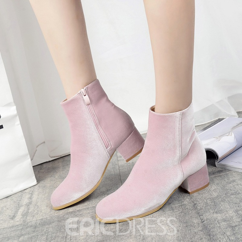 Ericdress Fashion Round Toe Plain Womens Ankle Boots