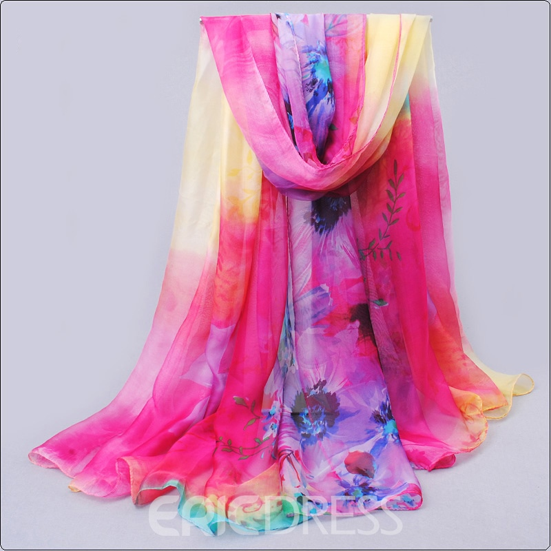 Ericdress Chiffon Floral Spring&Autumn Scarf for Women