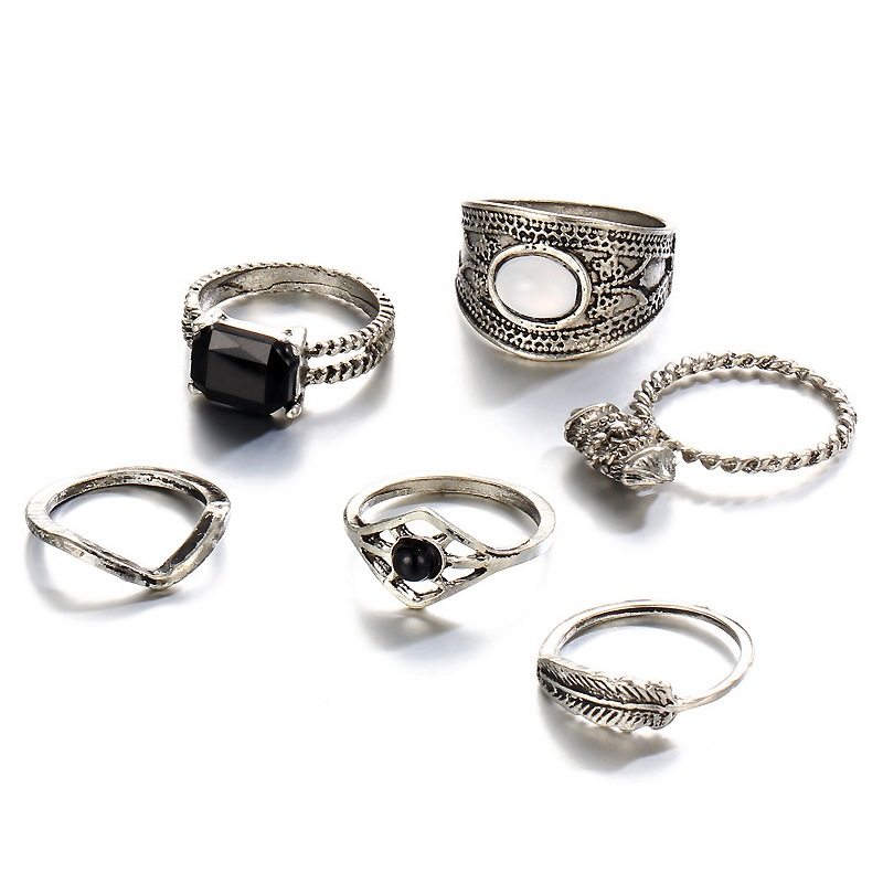Ericdress Vintage Hollow Out Diamante Women's Ring
