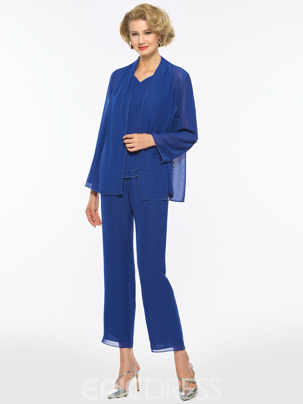 Ericdress Chiifon Long Sleeves Mother of The Bride Jumpsuit