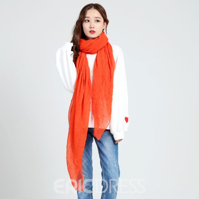 Ericdress Hot All Match Solid Color Cotton Women's Scarf