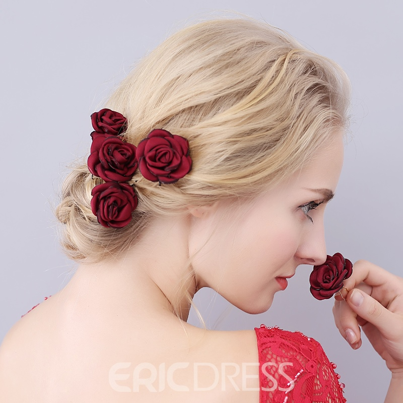 Ericdress Pure Color Rose Wedding Hair Accessories