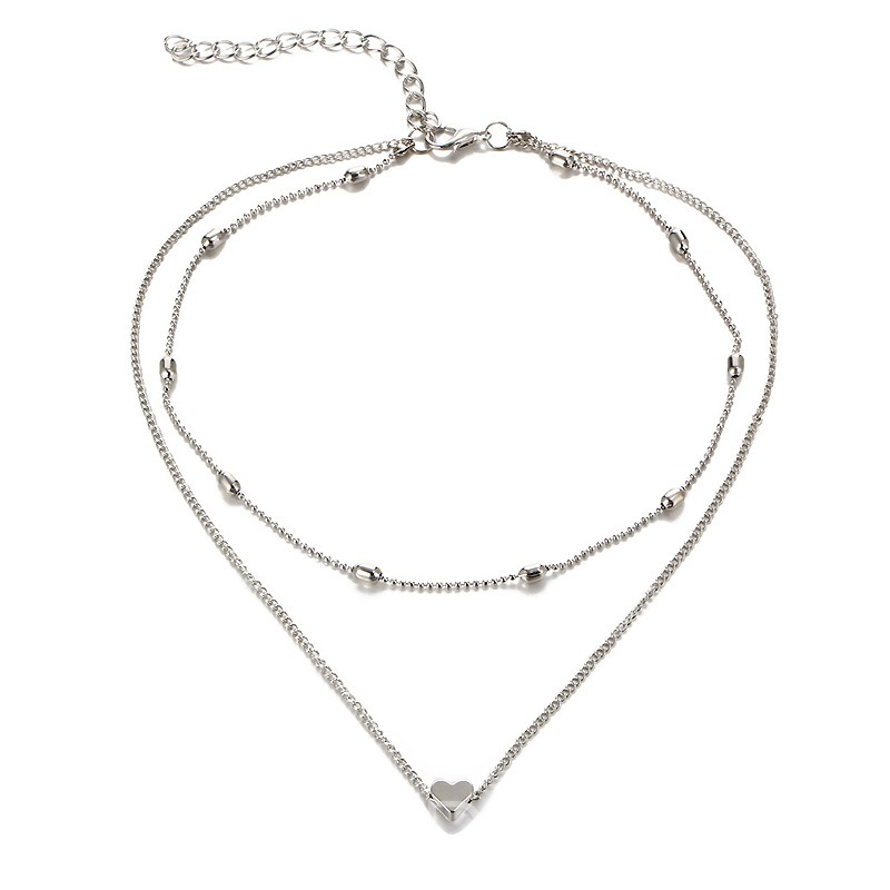 Ericdress Double Layer Heart Pendant Necklace for Women