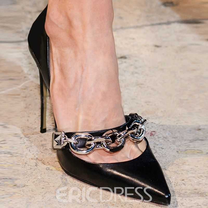 Ericdress Chain Pointed Toe Slip-On Women's Pumps