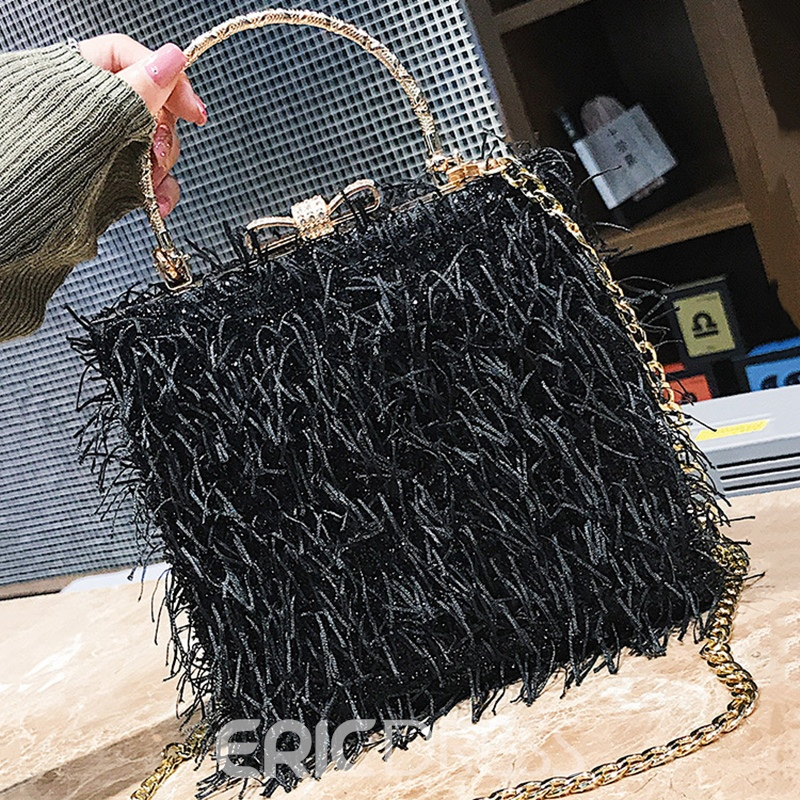 Ericdress Stylish Tassel Design Chain Mini Crossbody Bag
