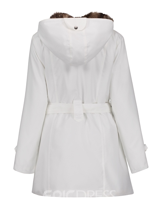 Ericdress Long Sections Slim Liner Cotton Coat