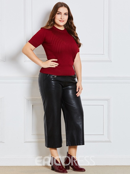 Ericdress Regular Short Slim Plus Size Sweater