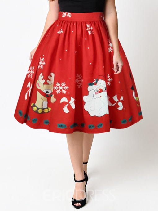 Ericdress Christmas Knee-Length Womens' Ball Gown